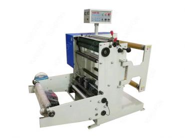 Slitting and rewinding machine for roll paper