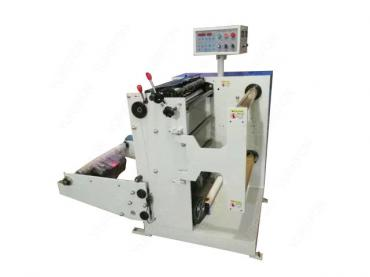 Roll to roll paper slitting and rewinding machine